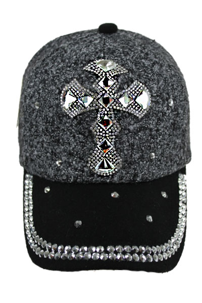 Wool with CROSS Bling Bling Studs