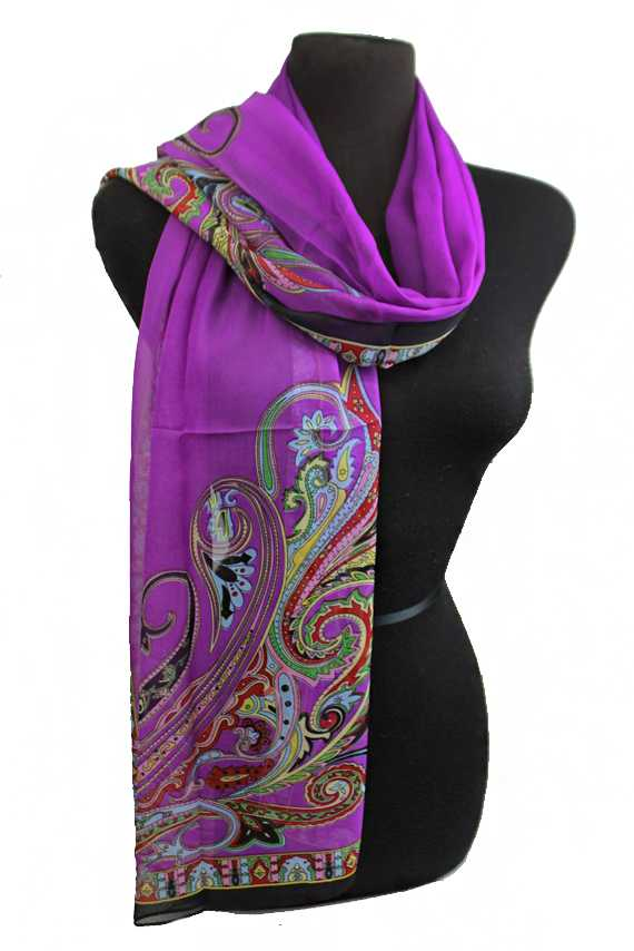 Decor Paisley Printed Sheer Chiffon Scarves