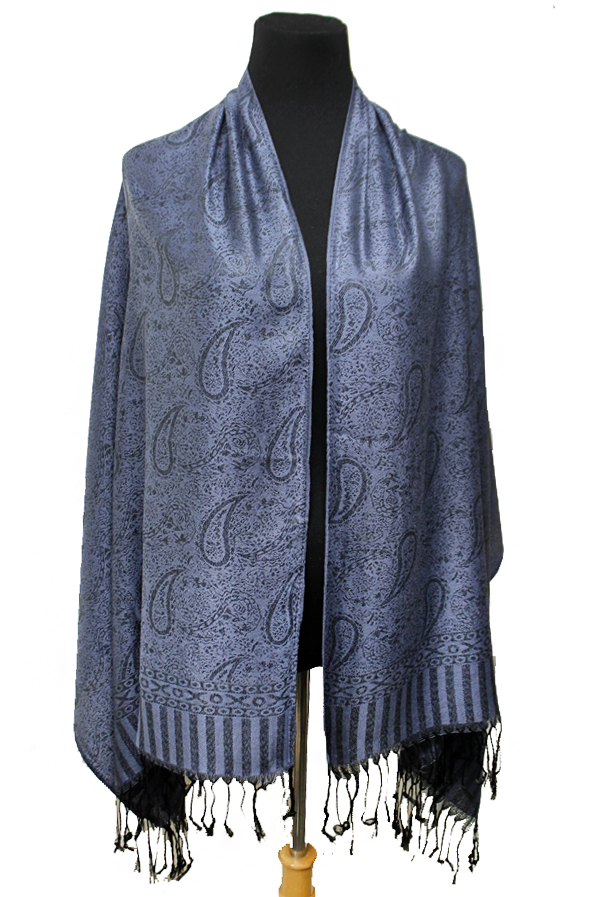 All Paisley Patterned and Striped Fringed Pashmina Shawl Scarves