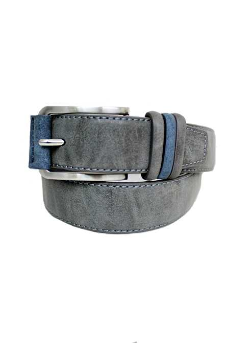 Soft Suede Like Textured Three Colored Tongue Keeper Belts