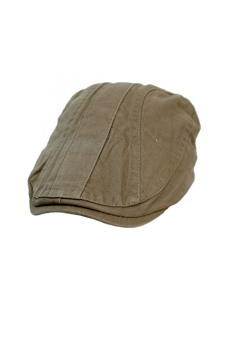 Canvas Cloth Washed Stitched Basic Color Ivy Cap