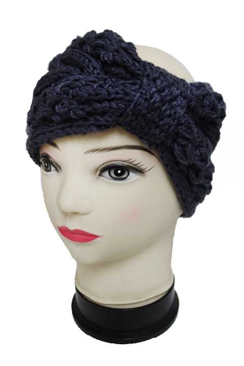 Wide Knit Pretty In A Bow Softness Winter Head Band
