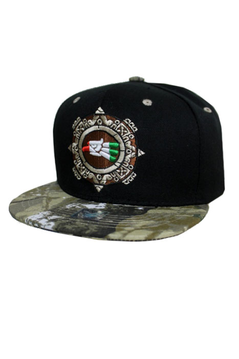 Cultural Mexican Eagle Emblem Embroidered Fashion Snap Back