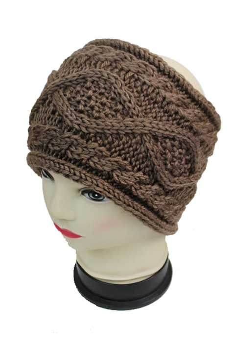 Wide Knitted Rope Braid Pattern Softness Head Band