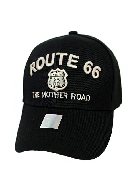 The Mother Road Route 66 Embroidered Baseball Cap