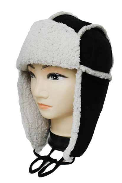 Leather Feel with Mohair very Warm Trooper Hat