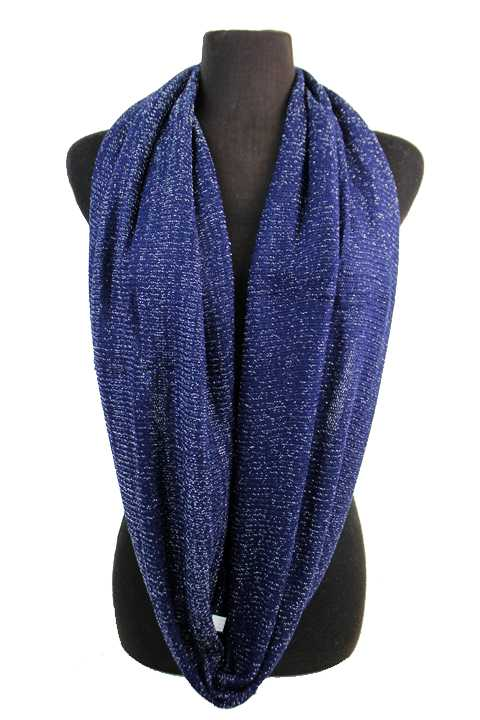 Glitter Thread Chunky Knit Infinity Scarf