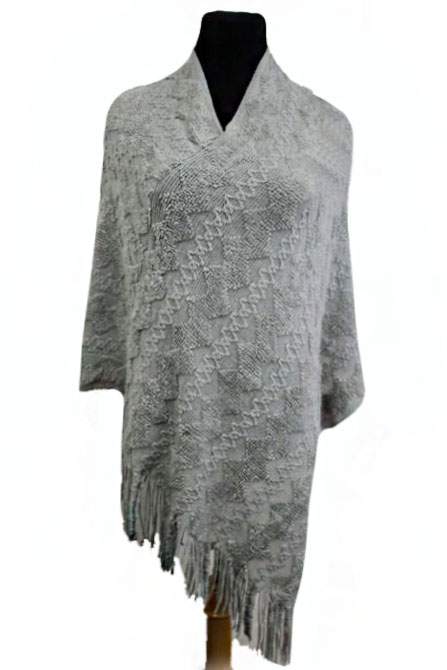 Zig-Zag Pattern Bubbly Design Super Softness Poncho