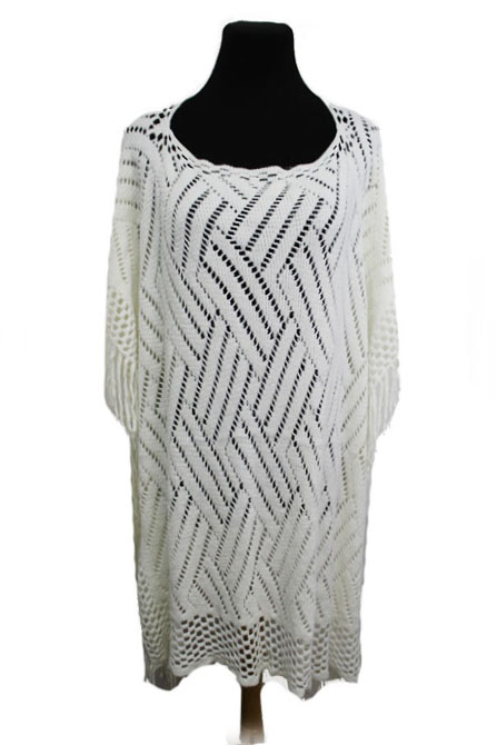Multiple Chevron Light Feel Closed Poncho