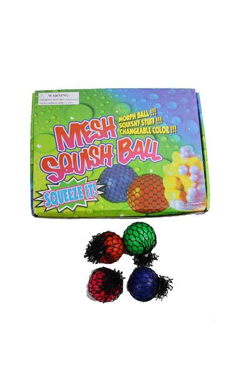 Mini Mesh Squishy Ball Stress Goo Ball Toy