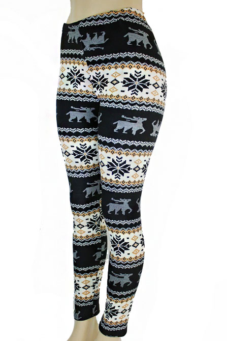 Women's Snowflake  Print Leggings Pants