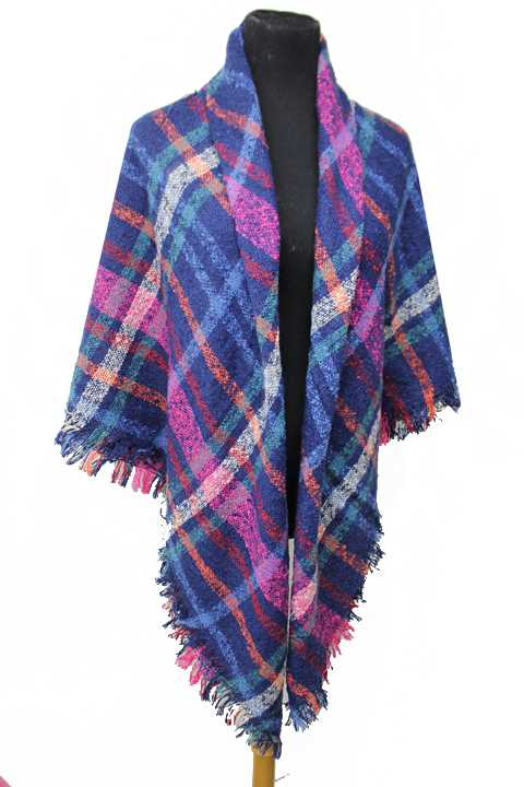 Large Over Sized Brushed Extra Soft Plaid Printed Blanket Scarf and Shawls