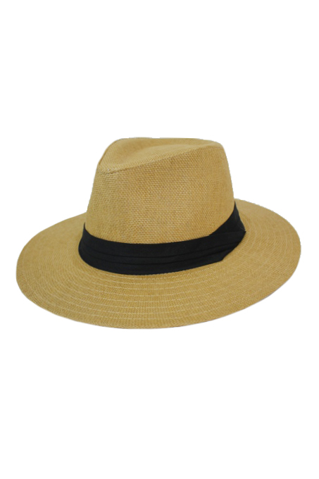 Well Built Panamanian Unisex Black Band Hat