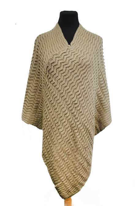 Zig-Zeg Pattern Super Softness Poncho