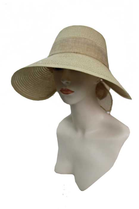 Big Brim Visor Style with Velcro Size Control Bow Sun Hat