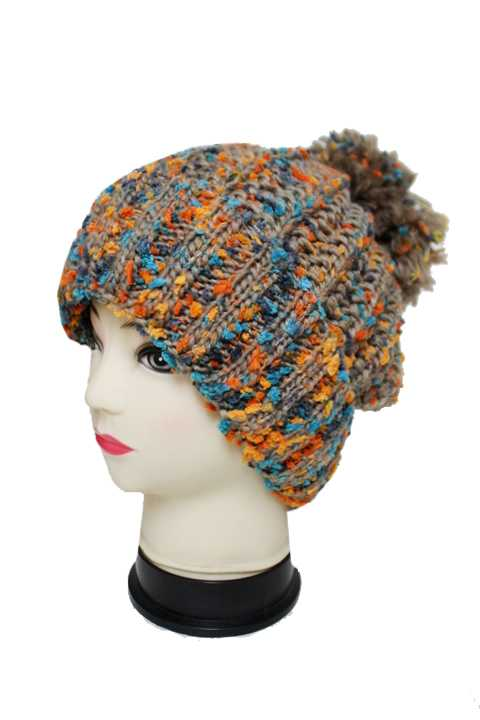 Multi Color Super Soft Thick with Pom Pom Beanies