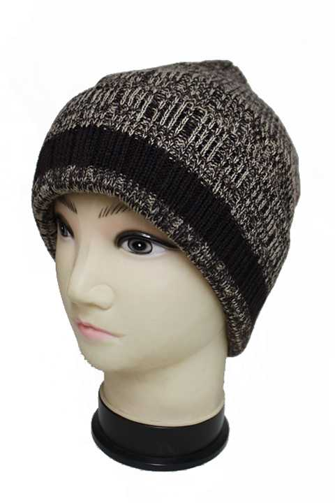 Insulated Therm Lining Mixed Toned Cuffed Men Beanie