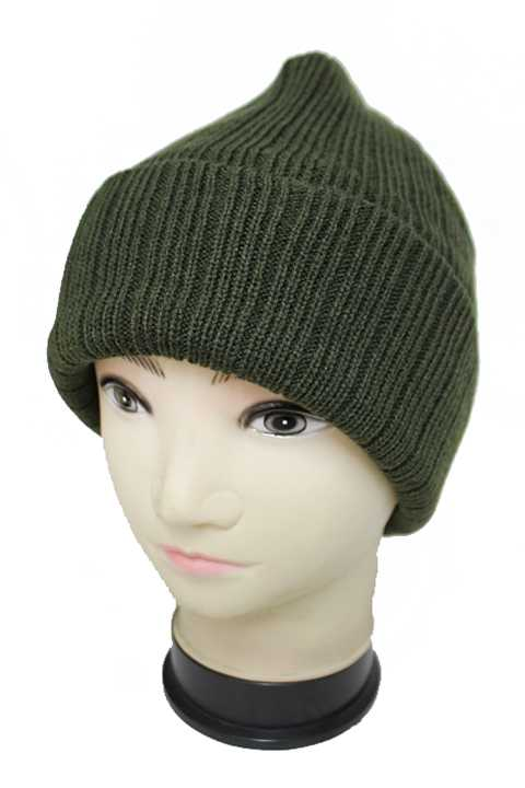 Insulated Therm Lining Basic Color Cuffed Men Beanie