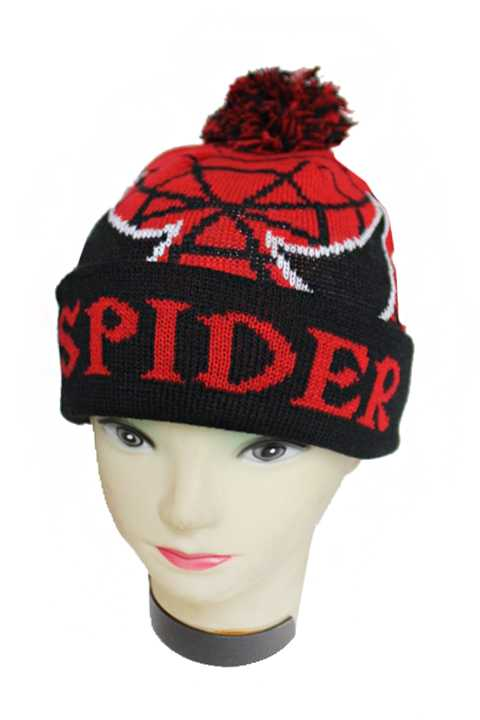 Spider Knitted Novelty Kids and Junior Beanies
