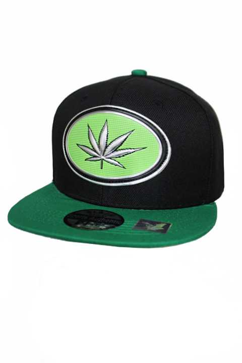Marijuana Plant Silver Chrome Patch With Dope Under Bill Writing Street Wear Snap Back