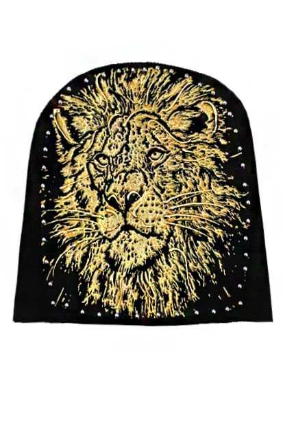 Golden and Silver LION Hand Printing Beanies