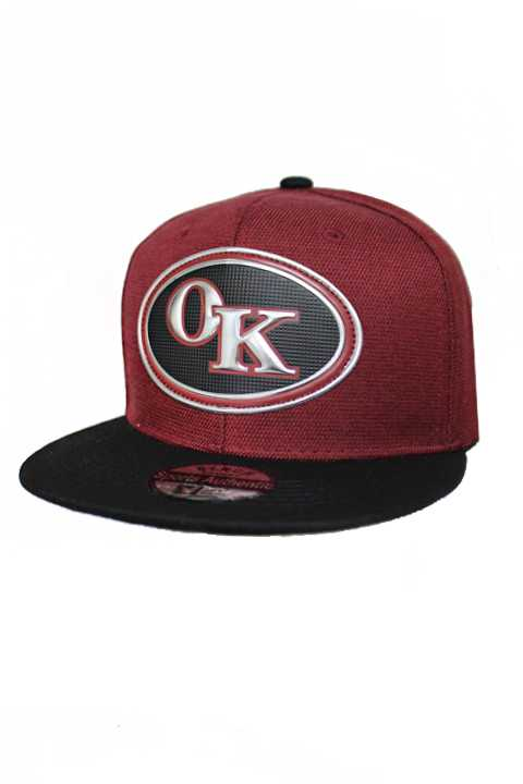 Oklahoma Silver Chrome Patch With Under Bill Writing Street Wear Snap Back