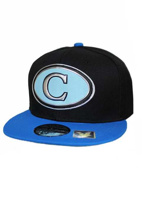 Carolina Silver Chrome Patch With Under Bill Writing Street Wear Snap Back