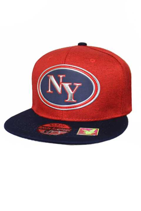 New York State Silver Chrome Patch With Under Bill Writing Street Wear Snap Back