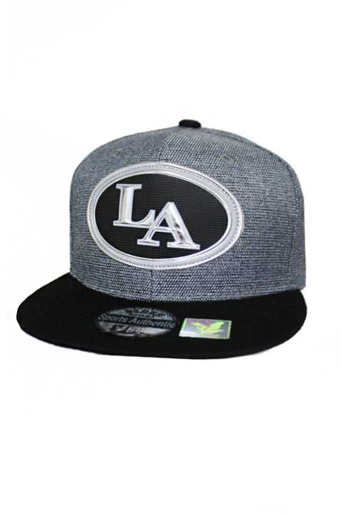 Los Angeles Silver Chrome Patch With Under Bill Writing Street Wear Snap Back