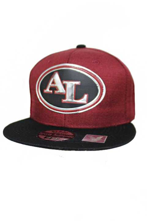 Alabama Silver Chrome Patch With Under Bill Writing Street Wear Snap Back