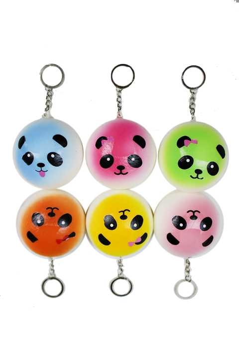 Mini Panda Squishy Animal Toy Slow Rising Squishy Scented Key Chain Toy