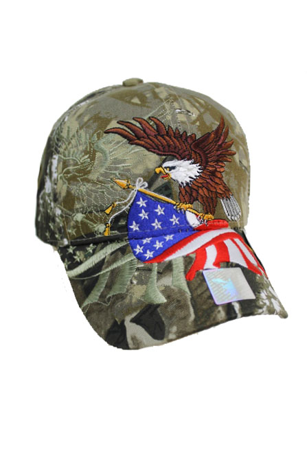 American Eagle and Flag design Cap