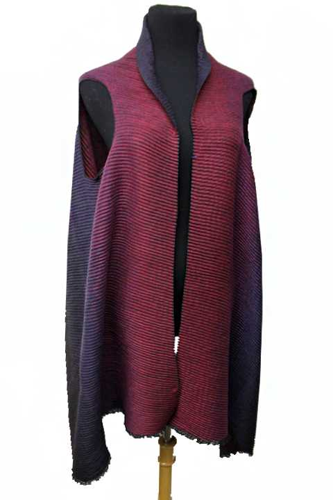 Extra Plush Softness Ripple Emboss Textured Multi Colored Vest Shawls