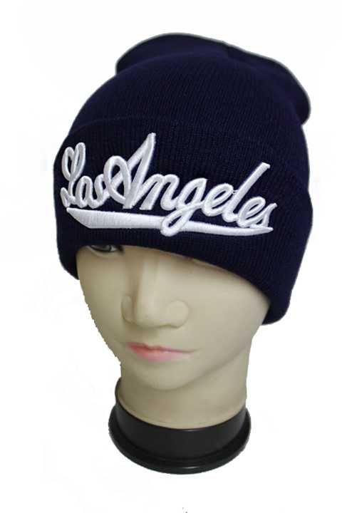 Cuffed Fashion Cursive Lettering Los Angeles Beanies