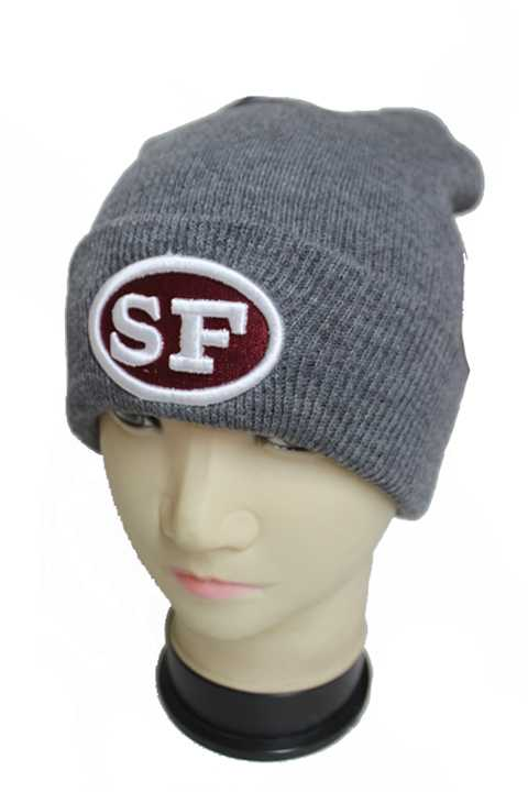SF The Golden City Embroidered Cuffed Beanie