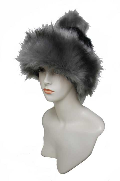 Extra Fluff Faux Fur Decorative Trim And Lined Extra Warm Beanies