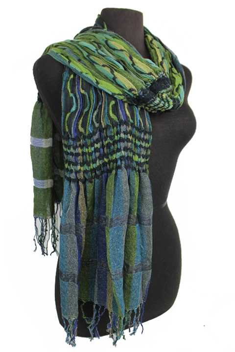 Boho Chic Toned Scrunch Multiple Colored Oblong Softness Scarves