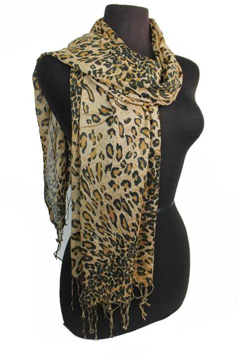 Leopard Print Softness Thin Fringed Fashion Scarves