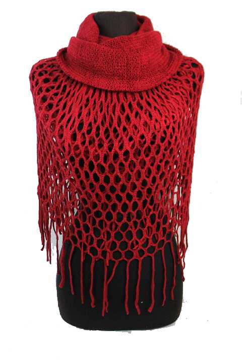 Soft Cashmere Feel Net Knit Magic Scarf