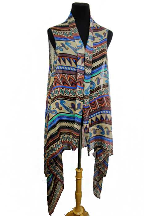 Full Of Color Odd Shapes And Patterns Softness Kimono