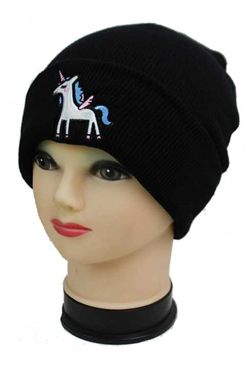 Galaxy Iconic Unicorn Embossed Patch Cuff Fashion Beanies