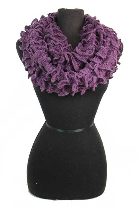 Extra Voluminous Ribbed Scrunchy Softness Infinity Scarves