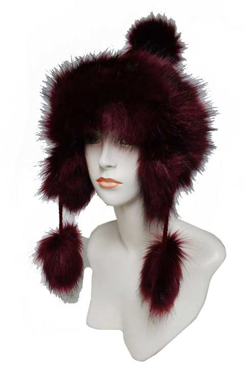 Extra Fluffy Brushed Faux fur Ribbed Knit Trooper Fashion Beanies