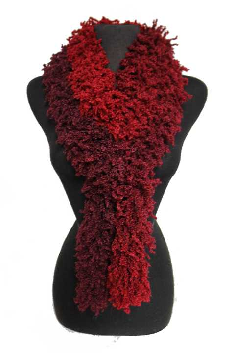 Ombre Fuzzy Single Rope Scrunched Styled Fashion Scarves