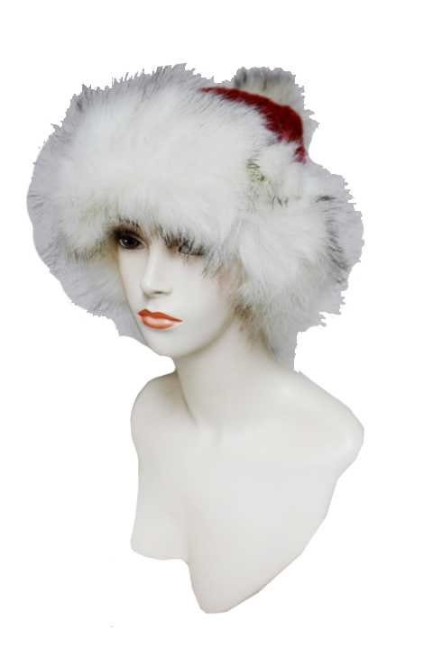 Colored Fur Extra Fluff Faux Fur Decorative Trim And Lined Extra Warm Beanies