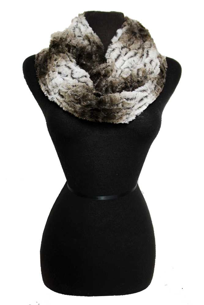 Graduated Two Tone Faux Fur Infinity Scarf