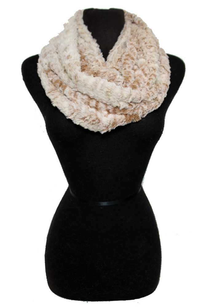 Two Tone Faux Fur Infinity Scarf
