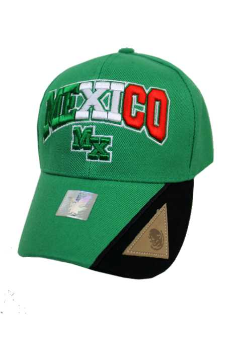 Mexico Design with Leather Triangle Patch Cap
