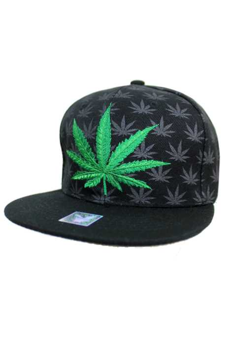 Marijuana All Over Printed and Embroidery Snap back