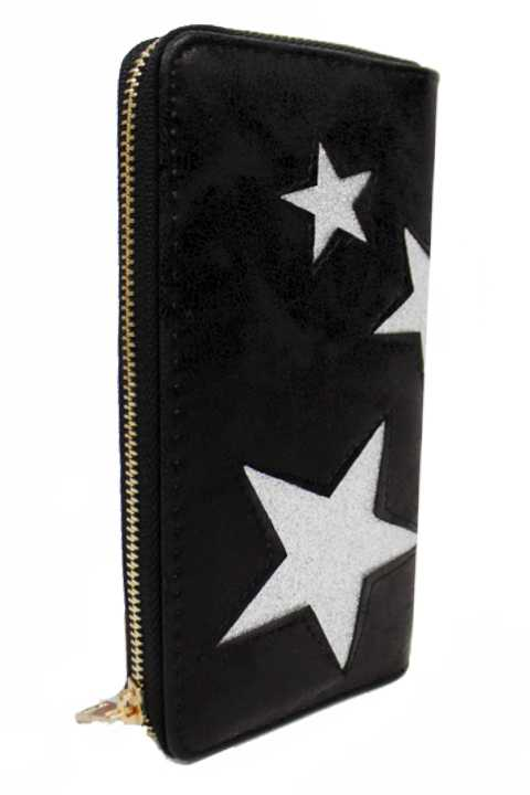 Faux Leather Shimmer Star Dazed Fashion Wallets